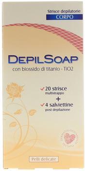 Depilsoap Depilatory Stripes for Sensitive Skin (20 pieces)