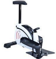 Homcom Mini Ellipsentrainer mit Fitnis-Monitor Pedal Fitnessgeräte Stand-up-Mini-Crosstrainer