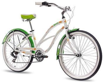 CHRISSON Sandy 26 Zoll RH 41 cm Kettenschaltung Damen weiß/grün