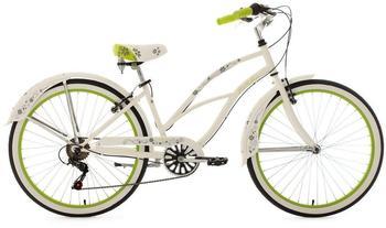 KS-CYCLING Bellefleur 26 Zoll RH 40 cm Damen weiß/grün