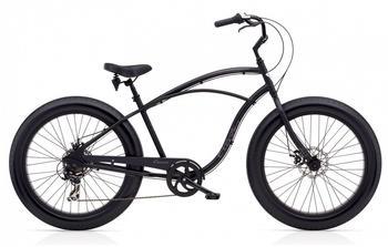 "Electra FAT Tire 7D Herren Fahrrad 26"" Schwarz Beach Cruiser Rad Retro 7 Gang Schaltung"