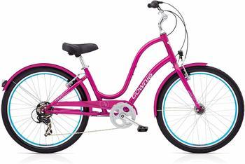 "Electra Townie Original 7D EQ Damen Fahrrad Pink 26"" Beach Cruiser Rad Beleuchtung"