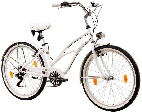 Tretwerk Cruiser-Bike Oceanside, 26 Zoll, 6 Gang, V-Brake weiß