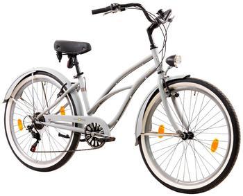 Tretwerk Cruiser-Bike Oceanside, 26 Zoll, 6 Gang, V-Brake grau