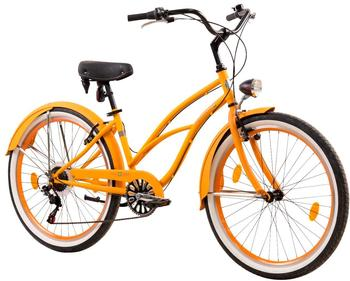 Tretwerk Cruiser-Bike Oceanside, 26 Zoll, 6 Gang, V-Brake orange