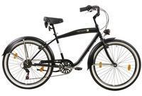 Tretwerk Cruiser-Bike Oceanside, 26 Zoll, 6 Gang, V-Brake schwarz