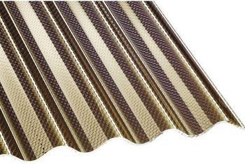 Gutta Acryl Wellplatte Sinus 76/18 Wabe bronze 3500 x 1045 x 3mm