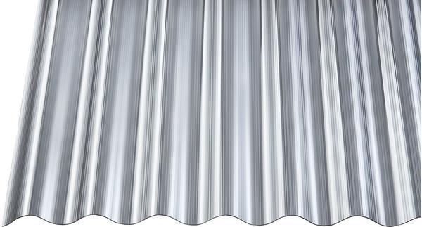 Gutta Polycarbonat Wellplatte Sinus 76/18 gerillt anthrazit 5000 x 900mm Elefantenplatte