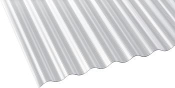 Gutta Polycarbonat Wellplatte Sinus 76/18 gerillt klar 2000 x 900mm Elefantenplatte