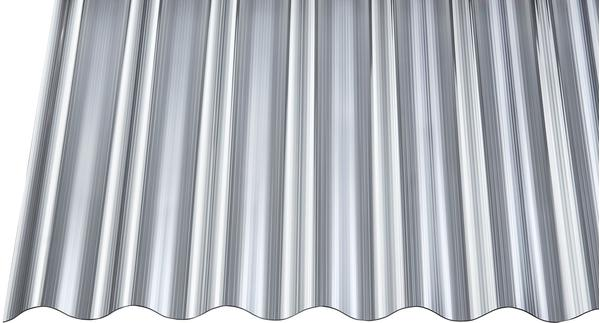 Gutta Polycarbonat Wellplatte Sinus 76/18 gerillt anthrazit 2500 x 900mm Elefantenplatte