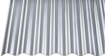 Gutta Polycarbonat Wellplatte Sinus 76/18 gerillt anthrazit 3500 x 900mm Elefantenplatte