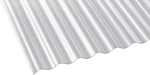 Gutta Polycarbonat Wellplatte Sinus 76/18 gerillt klar 3000 x 900mm Elefantenplatte
