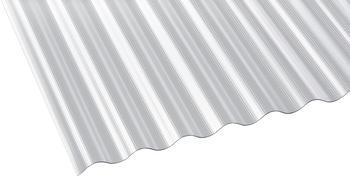 Gutta Polycarbonat Wellplatte Sinus 76/18 gerillt klar 4000 x 900mm Elefantenplatte