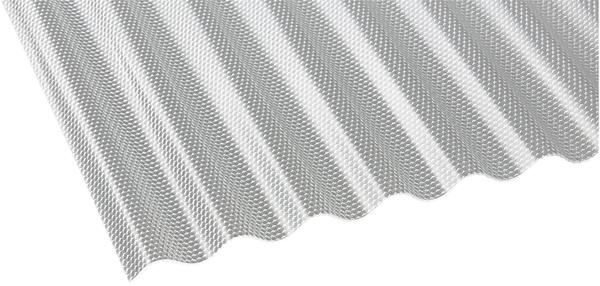 Gutta Polycarbonat Wellplatte Sinus 76/18 Wabe HS 2500 x 1045mm Elefantenplatte
