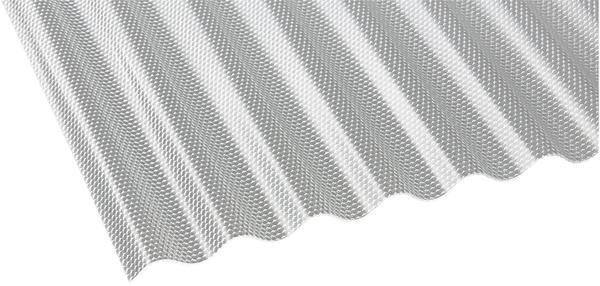 Gutta Polycarbonat Wellplatte Sinus 76/18 Wabe HS 4000 x 1045mm Elefantenplatte