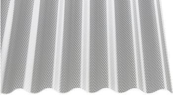 Gutta Acryl Wellplatte Sinus 76/18 Wabe glasklar 2500 x 1045 x 3mm