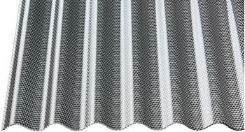 Gutta Acrylglas Profilplatte Sinus 76/18 graphit Wabenstruktur 2000 x 1045 x 3mm