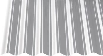 Gutta PVC Wellplatte Sinus 76/18 glasklar 3000 x 900 x 0,8mm