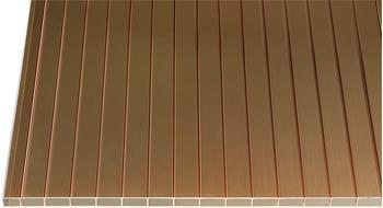 Gutta Acryl Hohlkammerplatte 16-32 bronze 2500 x 980 x 16mm