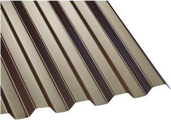Gutta Polycarbonat Wellplatte Trapez 76/18 bronze 2500 x 1040mm