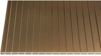 Gutta Acryl Hohlkammerplatte 16-32 bronze 2500 x 1200 x 16mm