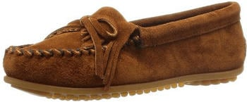 Minnetonka Kilty Suede Moc brown suede