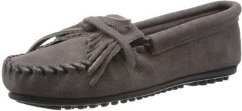 Minnetonka Kilty Suede Moc grey