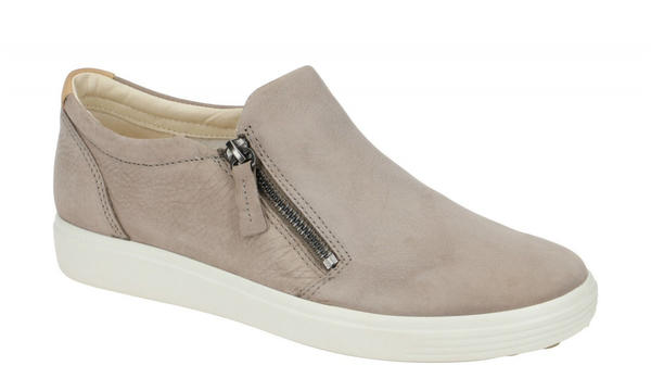 Ecco Ladies Loafers Womens Soft 7 W Sneaker white/grey (47017301375)