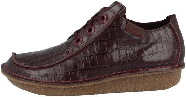 Clarks Originals Clarks Funny Dream burgundy croc leather