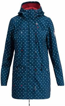 blutsgeschwister Wild Weather Long Anorak dot and anchor blau
