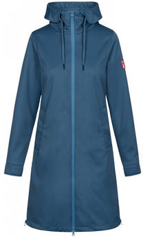 Derbe Colonsay Softshell Coat Women blue shadow