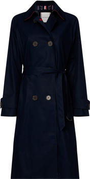 Tommy Hilfiger Essential Double Breasted Maxi Trench Coat (WW0WW27750) desert sky