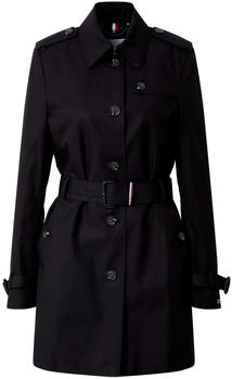 Tommy Hilfiger Pure Cotton Single Breasted Trench Coat black (WW0WW25610)