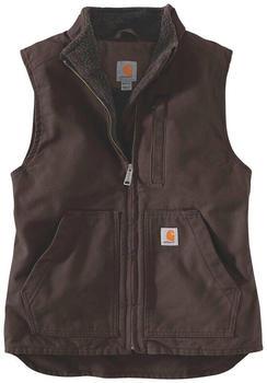 Carhartt Sherpa Lined Mock Vest (104224) dark brown