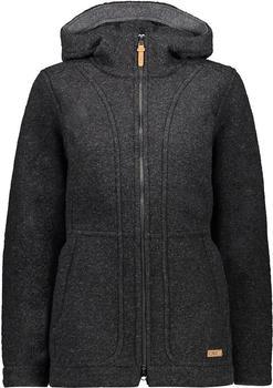 CMP Wool Blend Coat With Hood (30M3376) coal melange