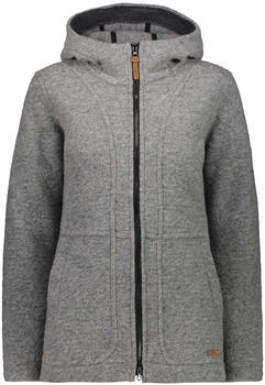 CMP Wool Blend Coat With Hood (30M3376) grey melange