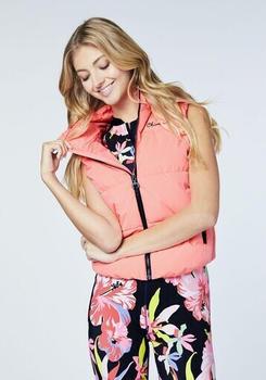 Chiemsee Banana Beach Women, Padded Vest, Slim F (1071600) neon pink