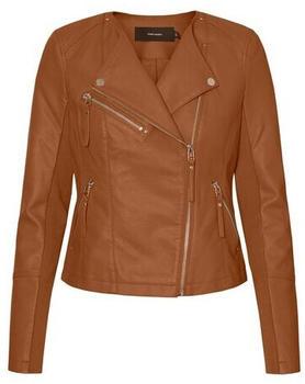 Vero Moda Vmriafavo Short Coated Jacket Col (10234810) cognac