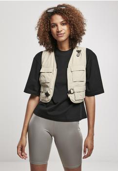 Urban Classics Ladies Short Tactical Vest (TB3633-02439-0042) concrete