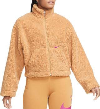 Nike Sportswear Swoosh Teddy Jacket (CU6639) caramel