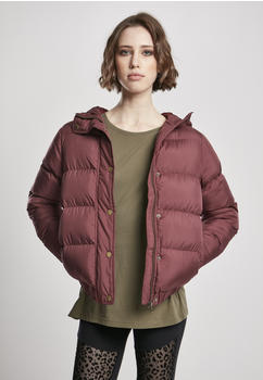 Urban Classics Ladies Hooded Puffer Jacket (TB1756-01151-0042) cherry
