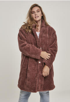Urban Classics Ladies Oversized Sherpa Coat (TB3058-01472-0037) darkrose