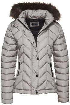 Superdry Luxe Fuji Padded Jacket (W5010271A) silver