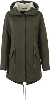Urban Classics Ladies Sherpa Lined Cotton Parka Black (TB1370-00176-0042) olive