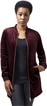 Urban Classics Ladies Long Velvet Jacket Black (TB1364-00606-0042) burgundy
