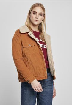 Urban Classics Ladies Oversize Sherpa Corduroy Jacket (TB2376-02768-0037) toffee/beige