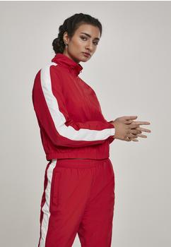 Urban Classics Ladies Short Striped Crinkle Track Jacket Blk/wht (TB2660-00202-0042) red/white