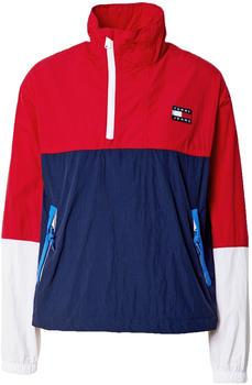 Tommy Hilfiger Tommy Badge Colour-Blocked Popover Windbreaker Jacket (DW0DW09932) deep crimson