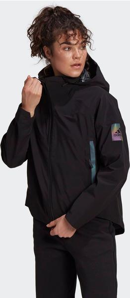Adidas Women Lifestyle MYSHELTER Rain Jacket black/rainbow reflective (GP7851)