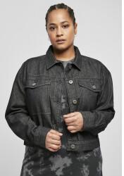 Urban Classics Ladies Short Oversized Denim Jacket (TB4378-00618-0037) black stone washed
